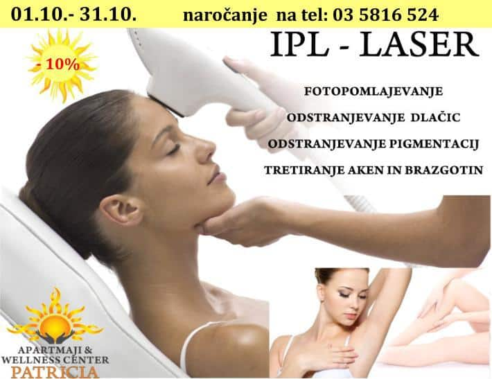 Laser IPL - Wellness center Patricia, Vila Golf
