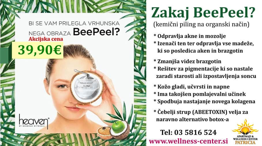 Nega obraza BeePeel - Kozmetika Heaven - Wellness center Patricia